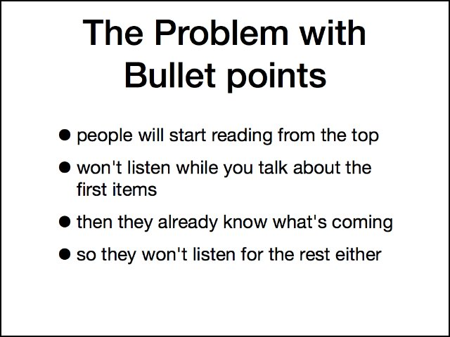 The problem with bullet points (and what to do about them) - The ...